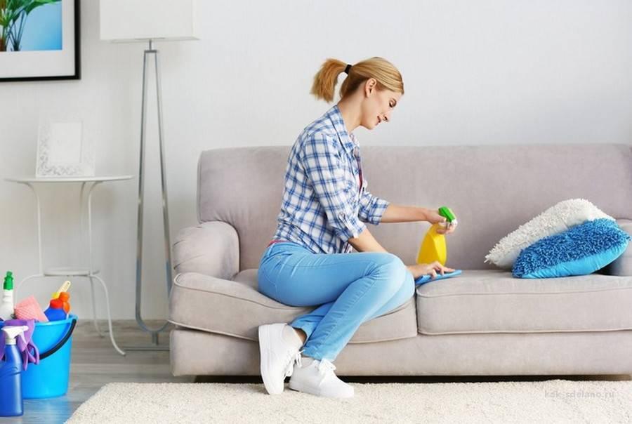 Как почистить диван из ткани от пятен и грязи в домашних условиях без разводов