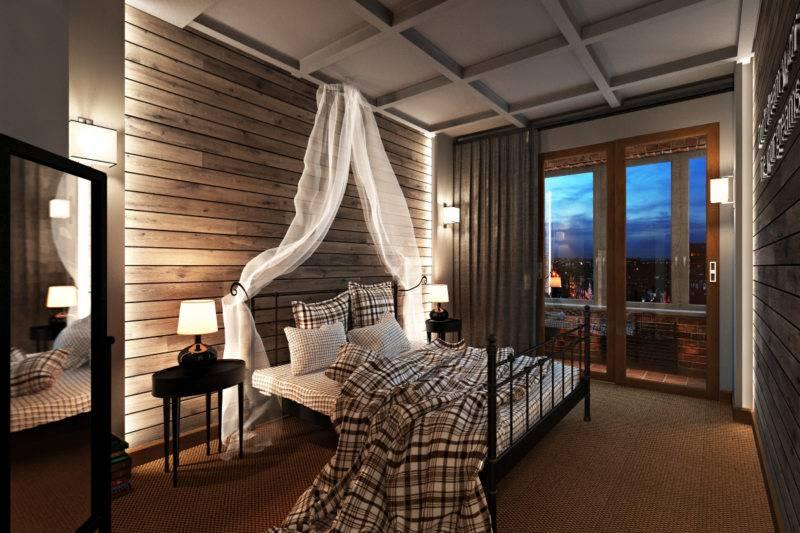 Спальня в стиле «лофт»