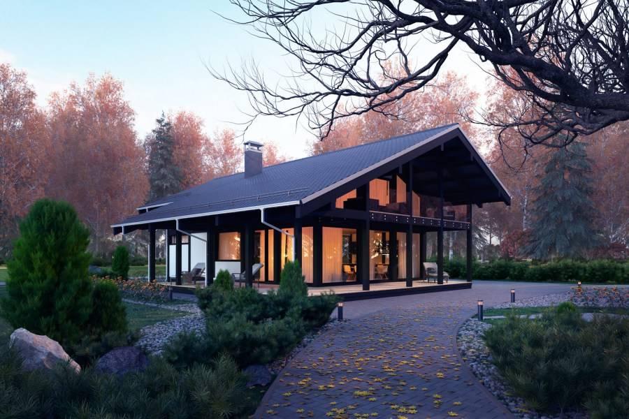 Каркасный дом в стиле фахверк и технология строительства