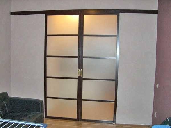 Установка раздвижных межкомнатных дверей своими руками, монтаж откатных конструкций на роликах