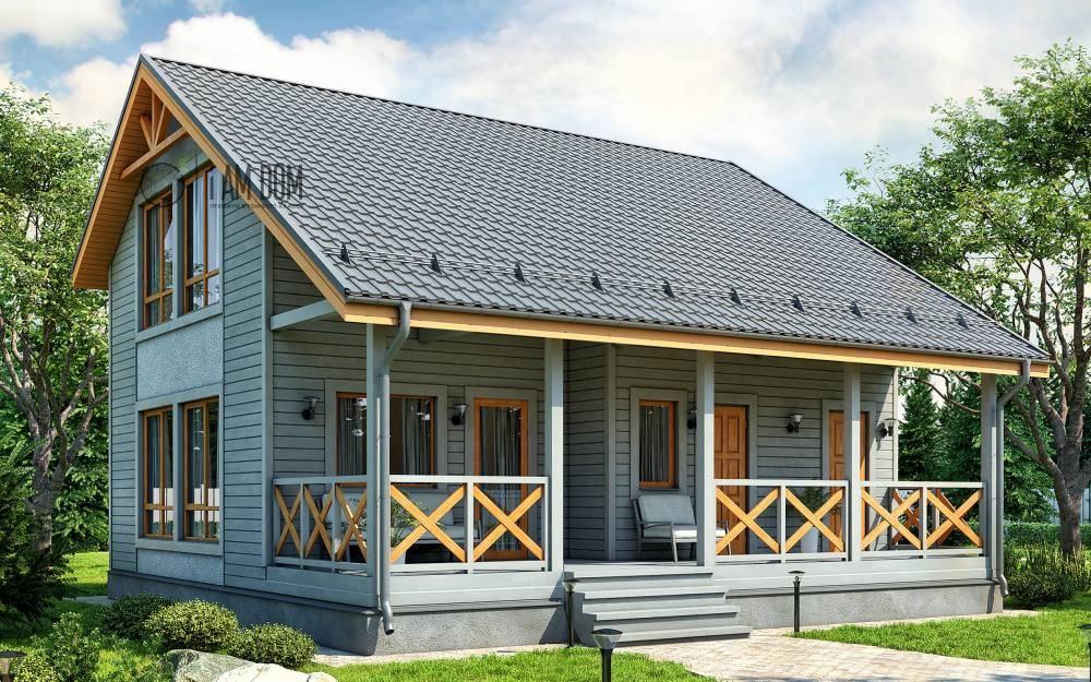 Дома с односкатной крышей, проекты деревянных одноэтажных домов, устройство, схемы и чертежи, фото