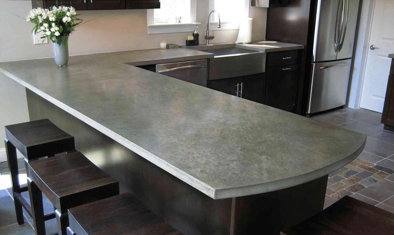 Делаем столешницу для кухни своими руками: виды, формы, материалы и особенности проектирования (75 фото)