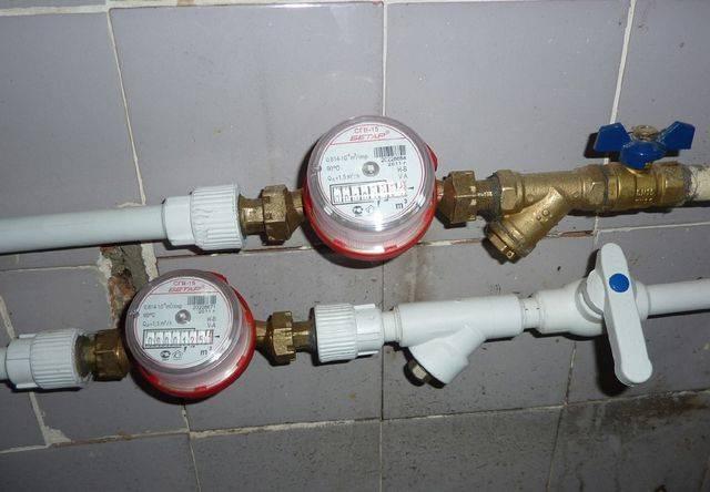 Установка счетчиков воды своими руками: технология, правила, схема