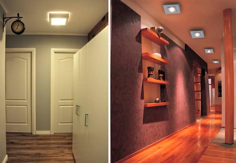 Потолочные светильники в прихожую (33 фото): модные коричневые модели 2021 для коридора