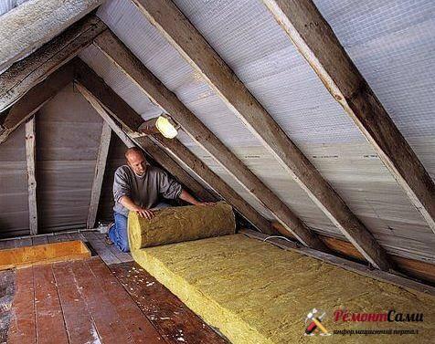 Гидроизоляция потолка и пароизоляция при холодном чердаке и теплом от протечек сверху