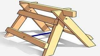 Козлы строительные: выбор готовых и изготовление своими руками   строй советы