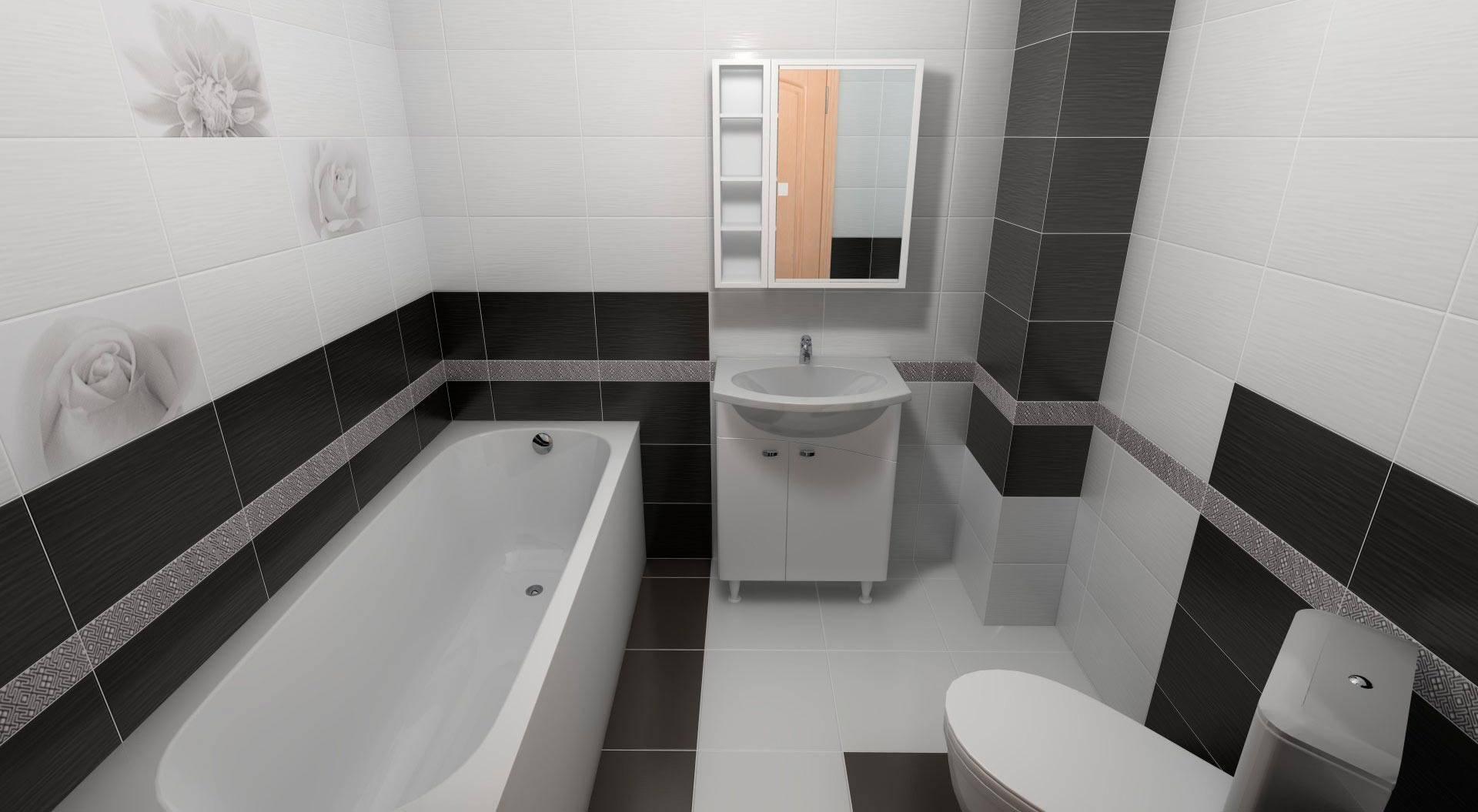 Черно-белая напольная плитка (47 фото): особенности керамического покрытия для пола