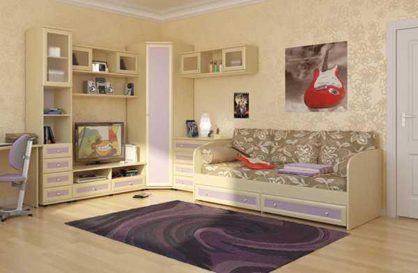 Дизайн детской комнаты с угловым шкафом для двоих детей 20 фото
