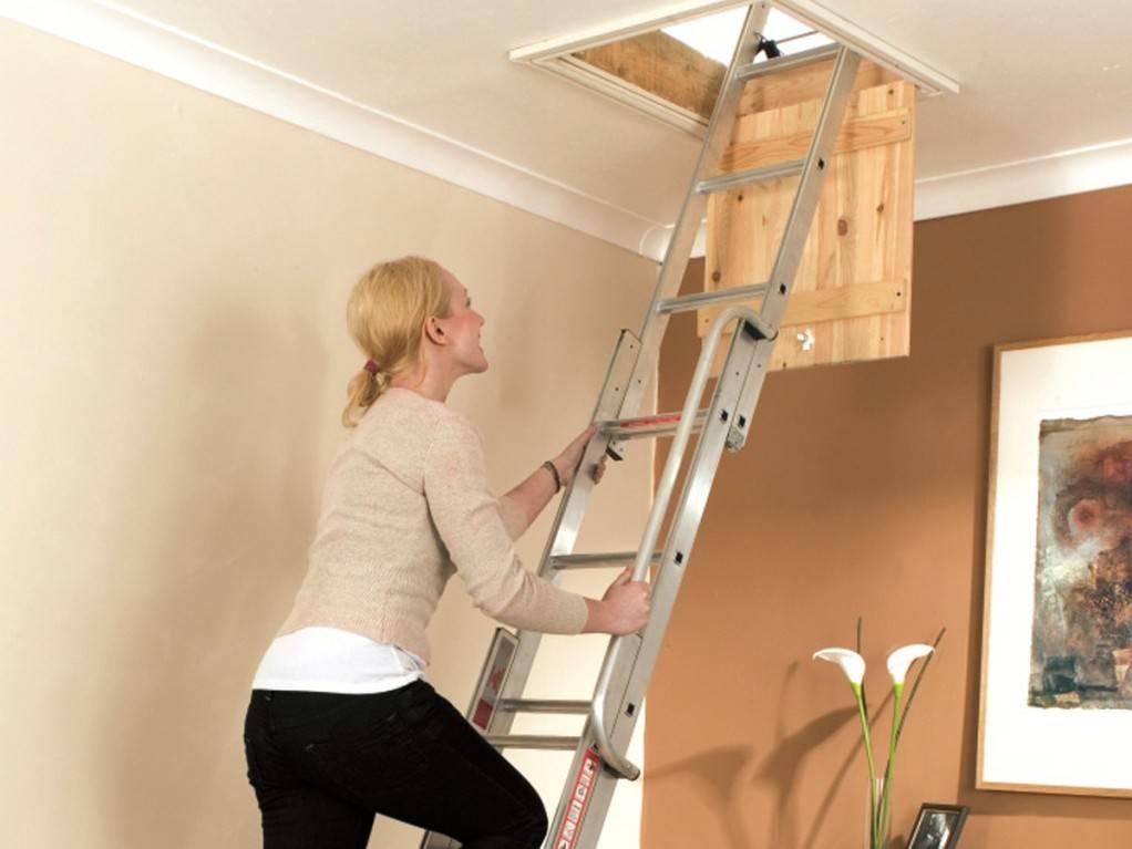 Как сделать своими руками чердачную лестницу с люком: описание способов изготовления, чертежи, фото и видео