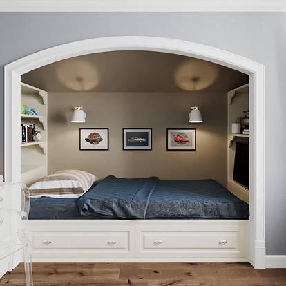 Грамотное использование пространства при создании дизайна однокомнатной квартиры с нишей