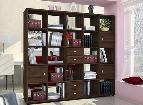 Шкафы-стеллажи закрытый вариант для хранения, белый стеллажный шкаф для спальни, глубина и другие габариты сборных моделей