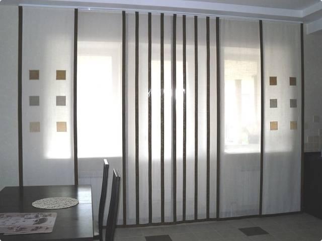 Шьем японские шторы своими руками: пошаговая инструкция (6 фото)