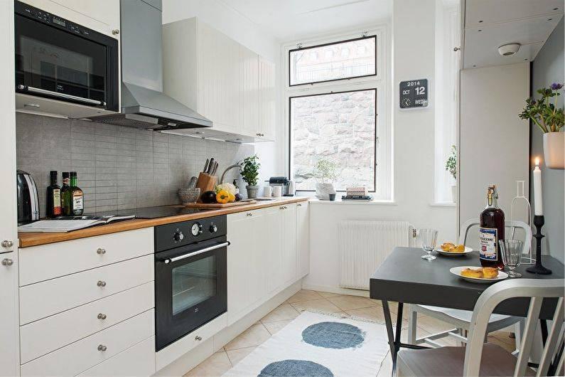Дизайн очень маленькой кухни (80+ реальных фото)