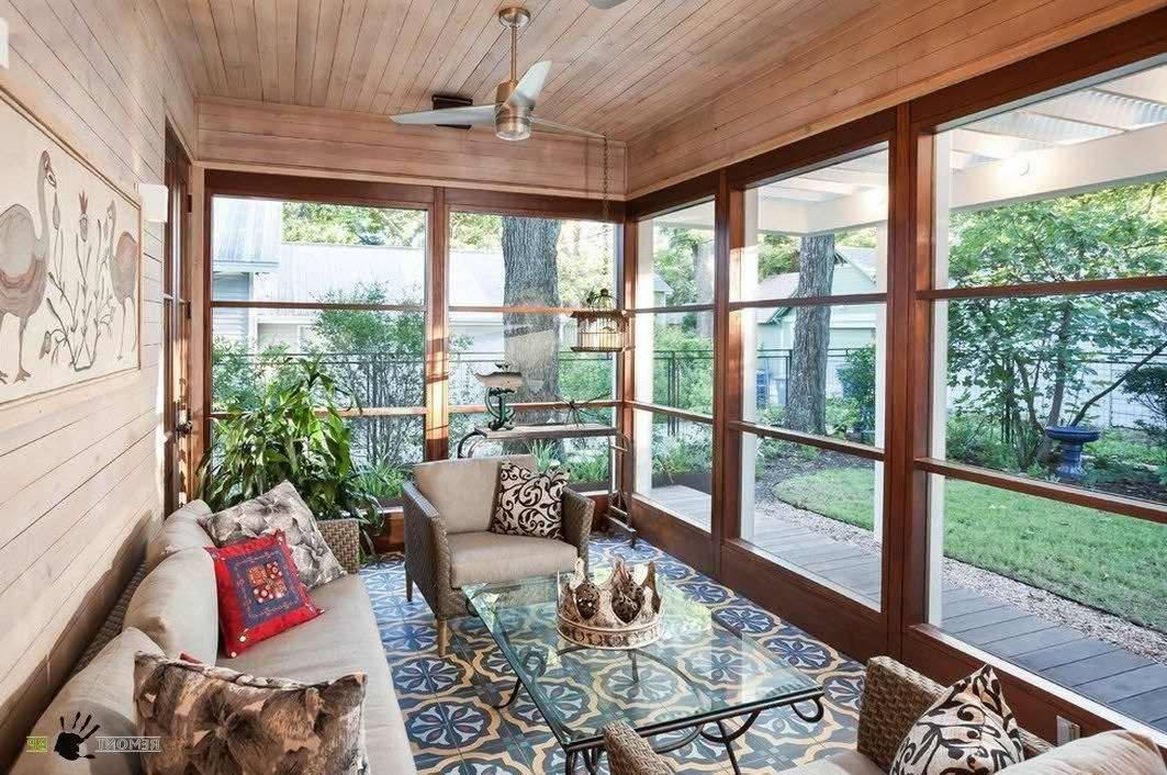 Дизайн веранды загородного дома | красивый интерьер на фото