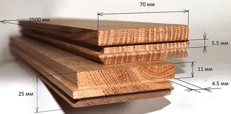Размеры паркетной доски: толщина, ширина, длина, описание стандартов