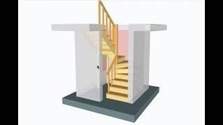 3d расчет металлической лестницы с тетивой зигзаг - онлайн калькулятор | perpendicular.pro
