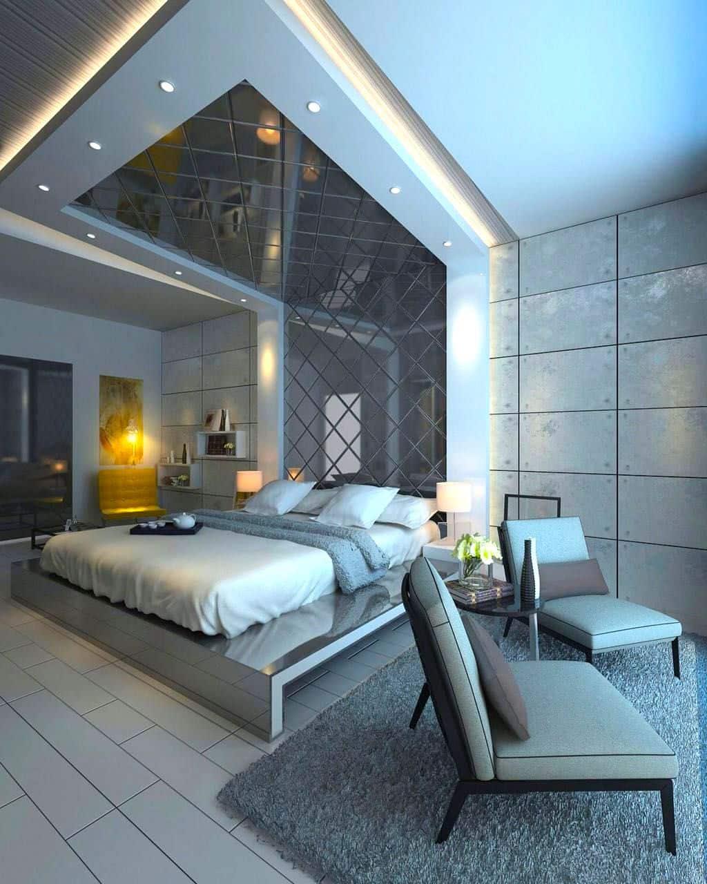 Потолок в спальне – создание гармоничного интерьера и правила стильного дизайна (1 фото)