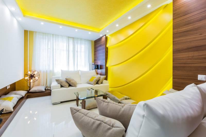 75 интересных сочетаний желтого цвета с другими в интерьере