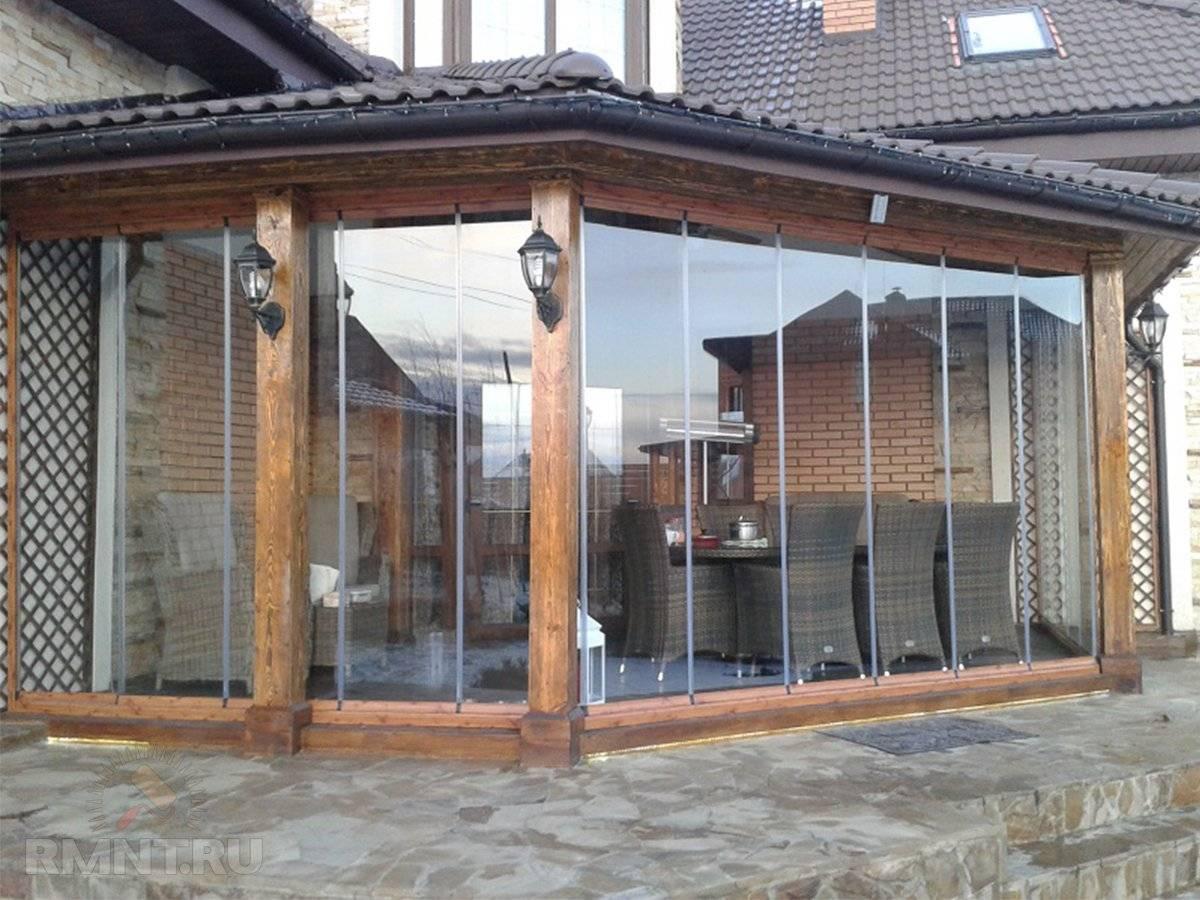 Окна из поликарбоната для веранды своими руками: преимущества и недостатки, безрамное и раздвижное остекление