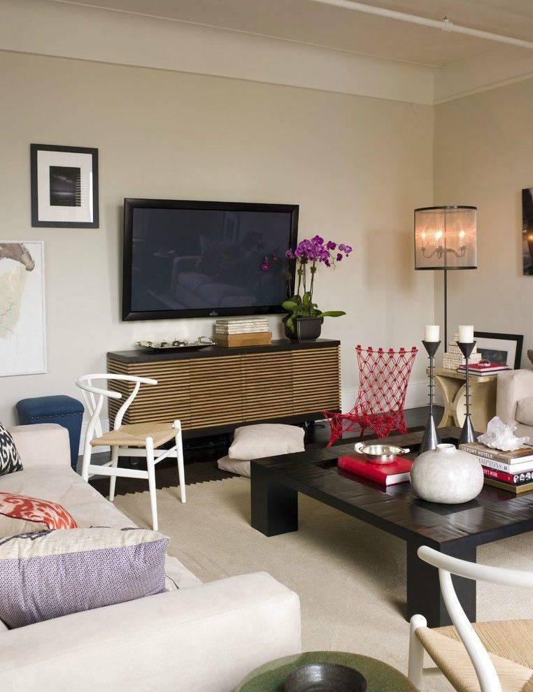 Телевизор в гостиной - лучшие фото идеи комфортного обустройства!