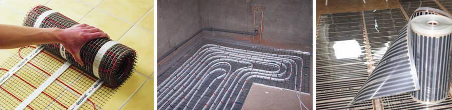 Электрический теплый пол в ванной под плитку: пошаговая инструкция