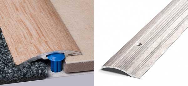 Стык между ламинатом и ламинатом: как соединить стыковочный профиль, состыковать соединитель между комнатами, соединительная планка, фото и видео