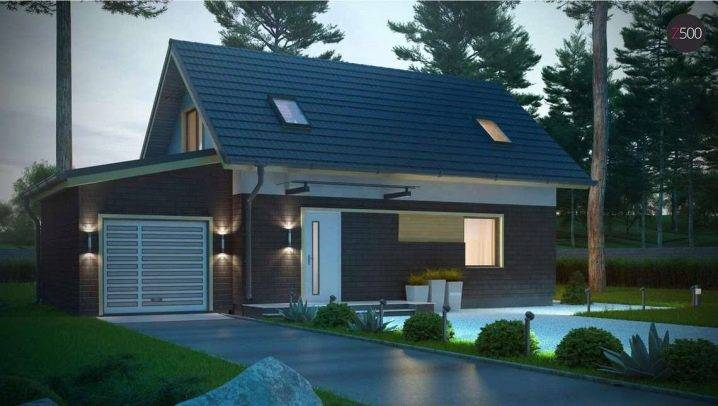 Проект гаража на 2 машины (63 фото): гараж на два автомобиля с мансардой, постройка с хозблоком, мастерской и жилым вторым этажом