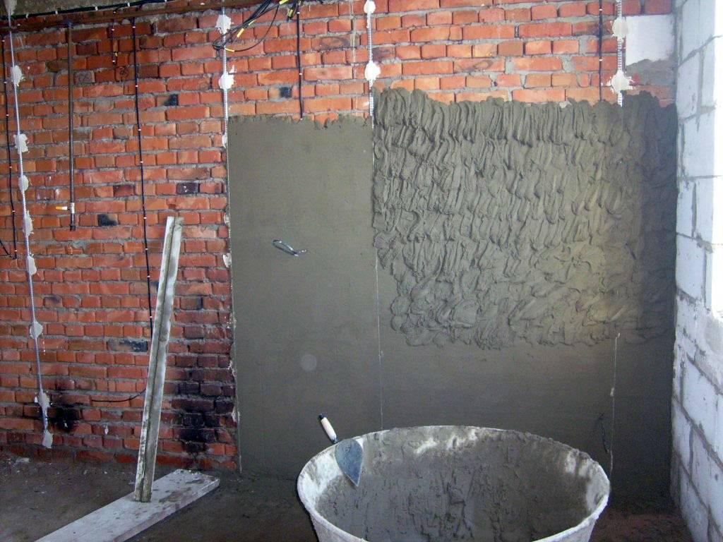 Расход цементной штукатурки на 1 м2 стены: песчаная, известковая, норма кнауф и бергауф