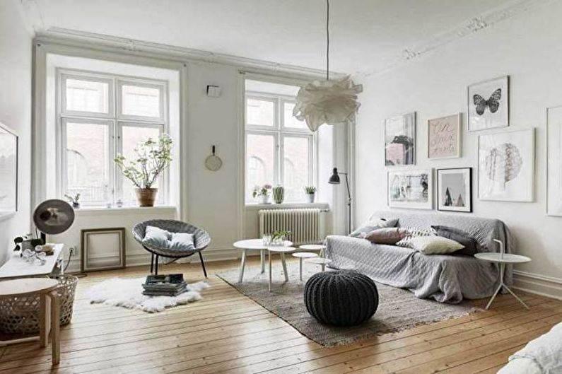 Простота и роскошь гостиной в скандинавском стиле - 106 фото примеров