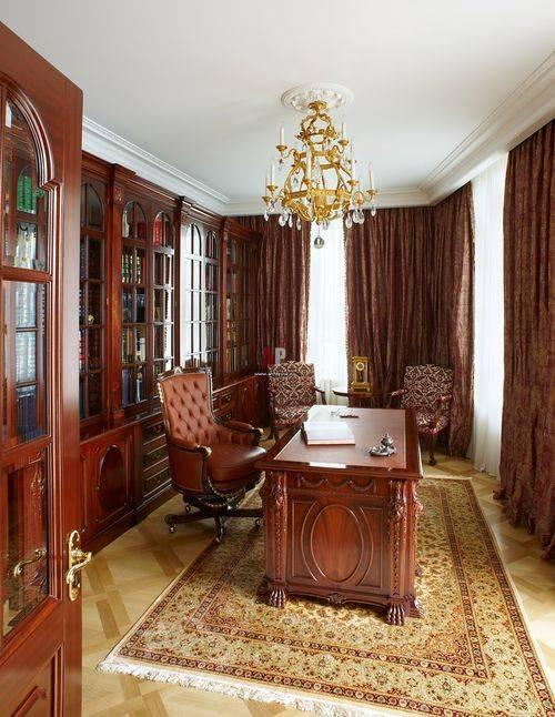 Шторы для кабинета (37 фото): занавески для рабочей комнаты в квартире и доме