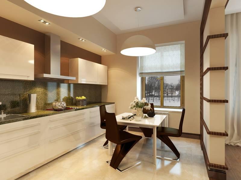 Лучший и практичный выбор цветового решения на кухонный гарнитур для маленькой кухни