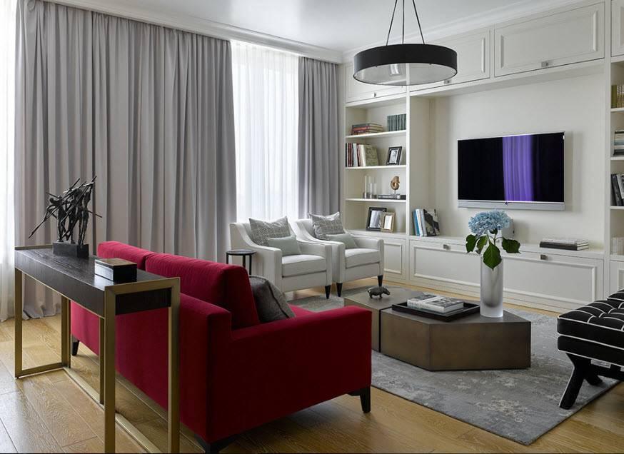 Телевизор на стене в интерьере фото: идеи гармоничного размещения, правила установки