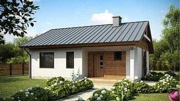 100 вариантов: одноэтажные дома с террасой на фото