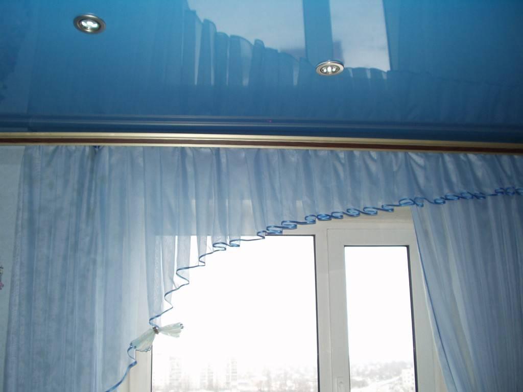 Потолочные карнизы для штор под натяжной потолок: как лучше установить, чтобы не было видно