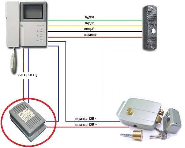 Установка и подключение видеодомофона с электрическим замком: делаем своими руками