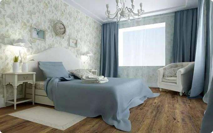 Тонкости оформления спальни в голубых тонах