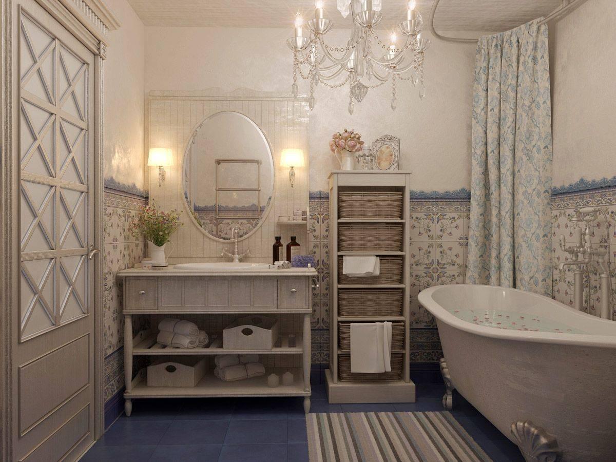 Ванная в стиле прованс: идеи интерьера и рекомендации по выбору элементов дизайна под стиль прованс