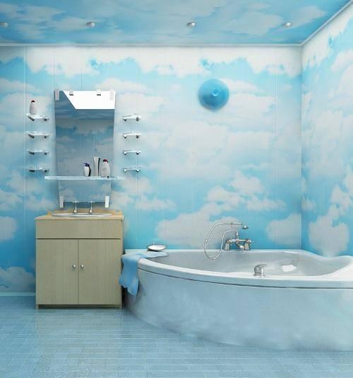 Обшивка ванной комнаты и туалета пластиковыми панелями пвх