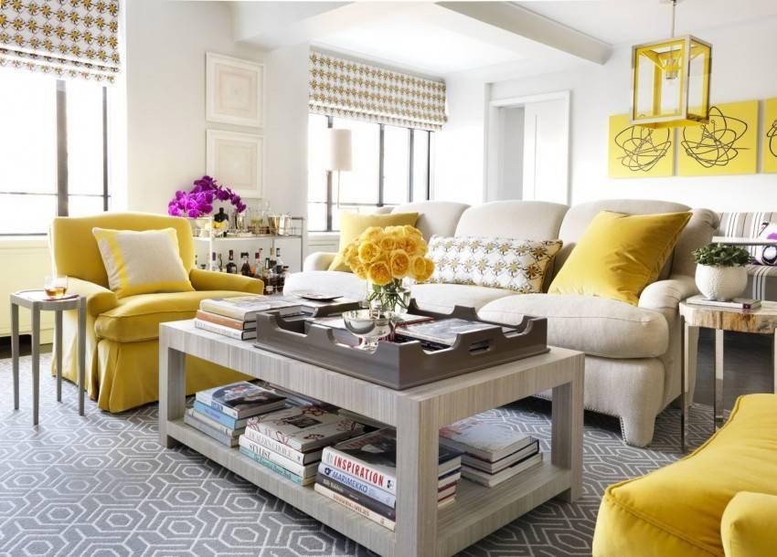 Желтый цвет в интерьере сочетание. 50 идей