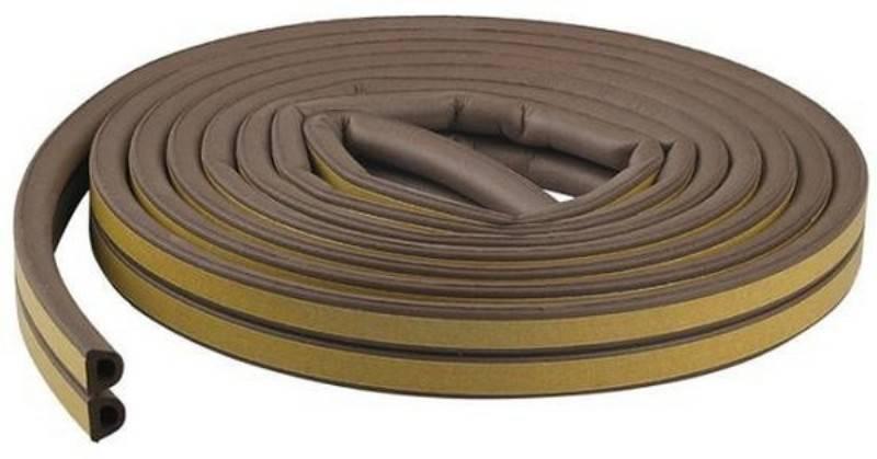 Самоклеющийся уплотнитель для дверей: уплотнительная самоклеющаяся лента, резиновые модели для уплотнения дверей