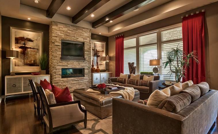 Интерьеры шоколадного цвета: пикантный дизайн жилого помещения, 45 фото