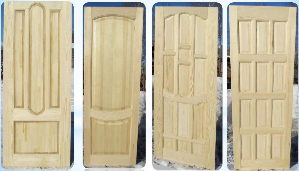 Двери из массива сосны: разновидности, особенности монтажа и эксплуатации