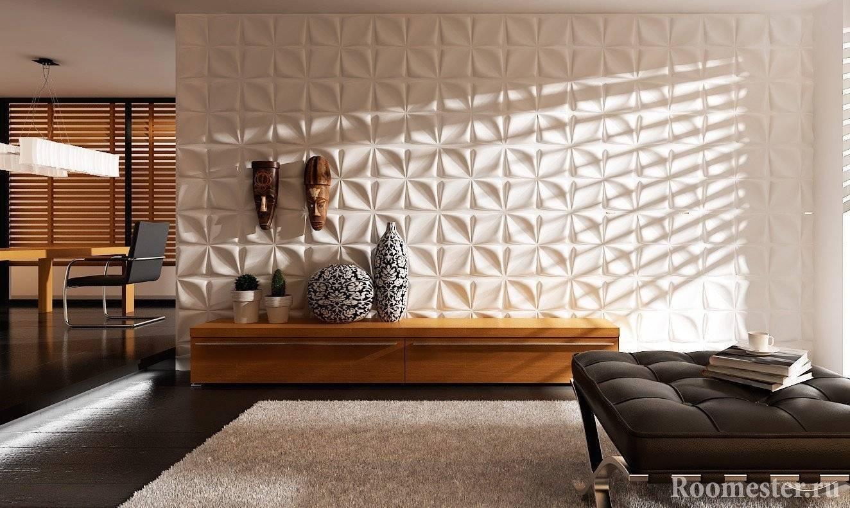3d панели для стен: декоративные идеи и варианты применения объемных панелей (155 фото)