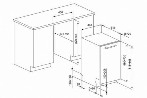 Посудомоечная машина: стандартные размеры встраиваемых, ширина и высота, какие бывают габариты для установки, глубина отдельностоящий ниши