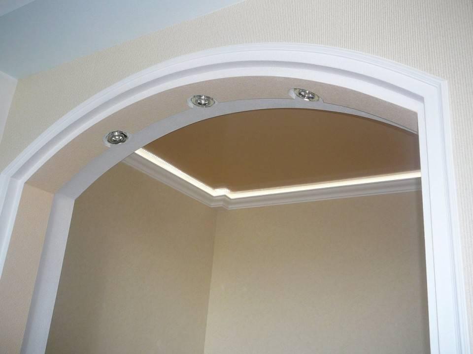 Дверные арки из гипсокартона: методика разметки, выполнения самостоятельно