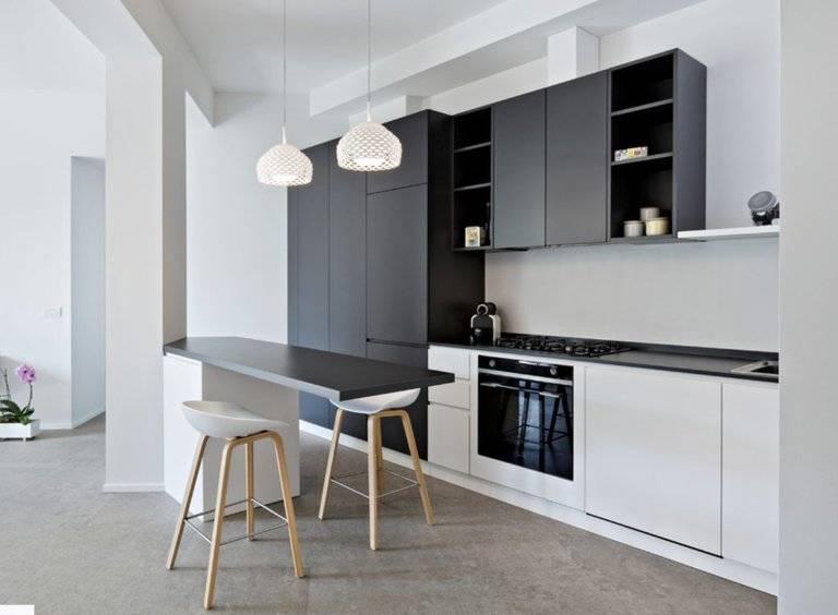 Кухня в стиле минимализм (62 фото): дизайн минималистичного интерьера, выбираем современный кухонный гарнитур для светлой кухни размером 9 кв. м в стиле минимализм