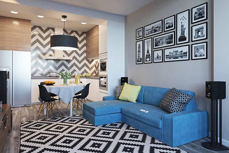 Квартира 40 кв. м.: обзор самых интересных и уютных идей стильного дизайна (90 фото)