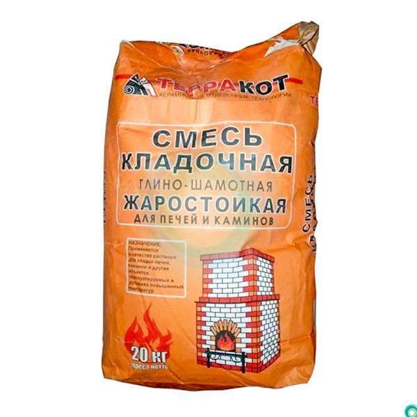 Кладочная смесь: цветная сухая продукция для пеноблоков, теплая монтажно-кладочная смесь м200, глино-шамотный раствор 20 кг