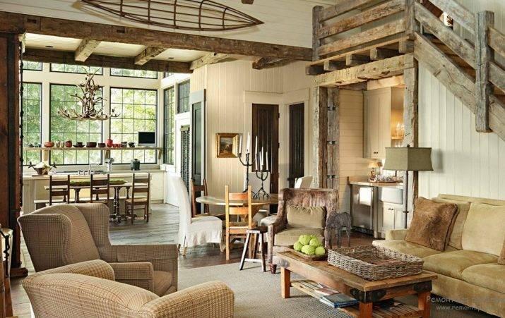 Интерьер деревянного дома: варианты внутреннего оформления
