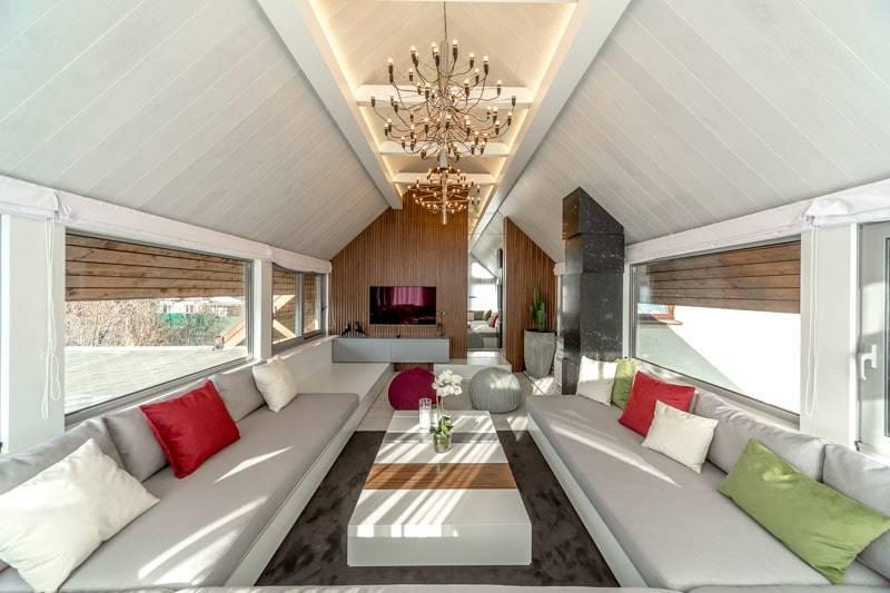 Натяжной потолок на гипсокартонный потолок - варианты и фото